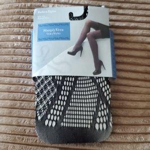 Vera Wang SimplyVera fashion tights - size 1/2